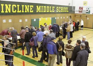 Many area voters turned out Tuesday for the Nevada Republican caucus.