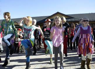 Many local children were among those who participated in Saturday's One Billion Rising event in downtown Truckee.