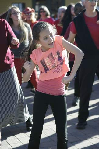 Those of all ages took part in the four-minute dance routine.