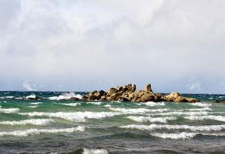 Lake Tahoe is seen amid windy skies on Dec. 22 from the East Shore. According to the Tahoe Prosperity Center, local residents also feel turbulence when attempting to make a living here.