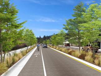 Roundabouts, bike lanes envisioned for major Truckee road project