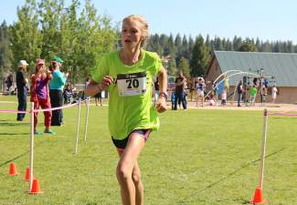 Ella Kuzyk, 14, of Incline Village was the top youth finisher and fifth overall in the 5K on Saturday.