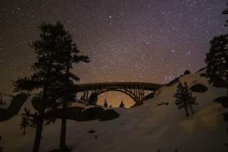 Starry Night: The stars shine brighter on Donner Summit.