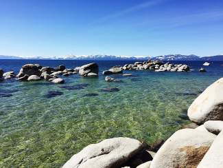 Fairest Picture: The clear waters of Lake Tahoe on a bluebird day.