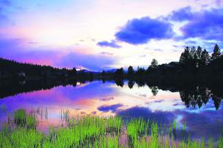 Color Splendor: A pink and lavender sunset on the Glenshire pond.