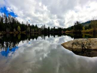 Shimmering Splendor: A look at the glassy Teichert Ponds behind Donner Lake in late May.