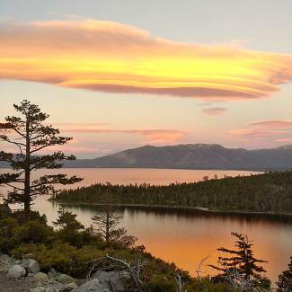 That View, Though: A look at the spectacular sunset on the evening of the Summer Solstice on June 20 above Emerald Bay.