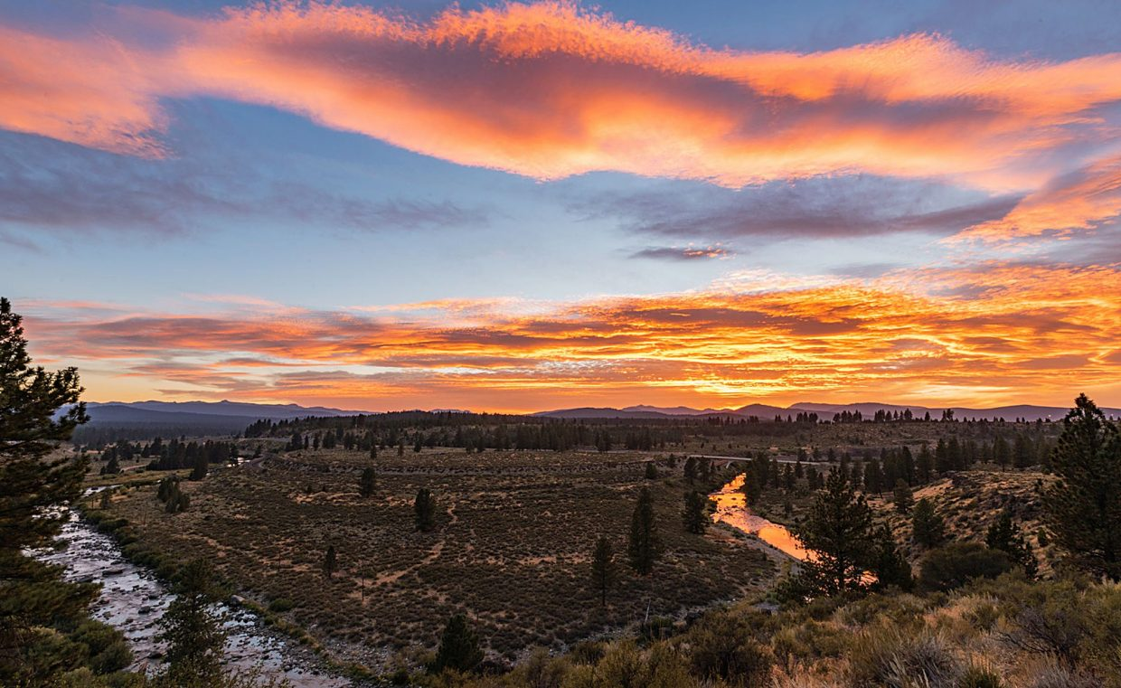 Fire In The Sky: Taking in the view from the Truckee Legacy Trail of a serene sunset on Aug. 29.Photo: John Britto