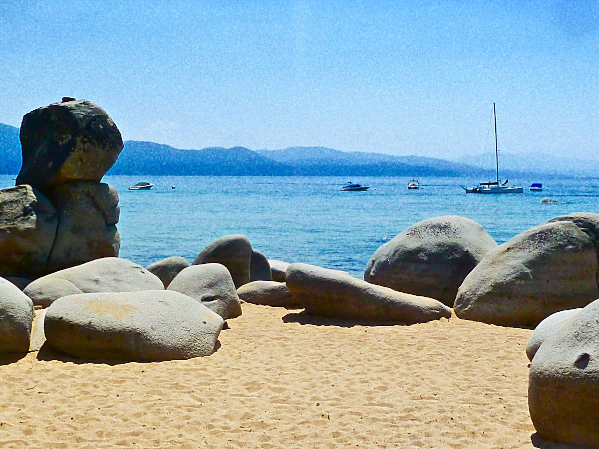 Life's A Beach: A beautiful day at Speedboat Beach on Lake Tahoe's North Shore in late August.Photo: Michael Monroe