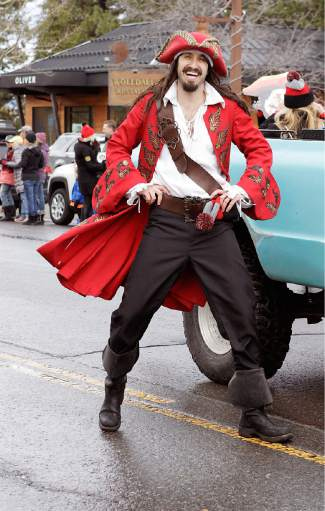 Captain Morgan makes an appeareance at Saturday's Tahoe City SnowFest! Parade.
