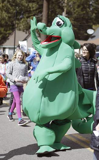 Tahoe Tessie made an appearance at Saturday's Kings Beach SnowFest! parade.