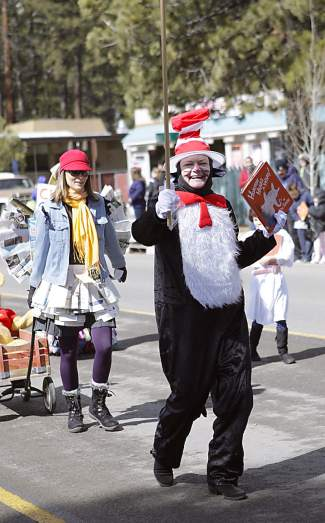The Kings Beach Library made an appearance in Saturday's parade, encouraging reading.