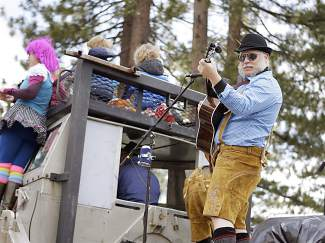 The Wrinkle Band also made an appearance in the Kings Beach SnowFest! Parade.