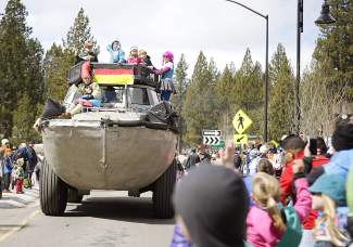 People lined Highway 28 through Kings Beach for Saturday's SnowFest! Parade.