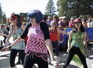 Jazzercise participants show off their moves in Saturday's Kings Beach SnowFest! Parade.