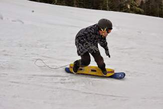 Billy Bradford competes in the 7th Annual Minus 7 Melee at Donner Ski Ranch.