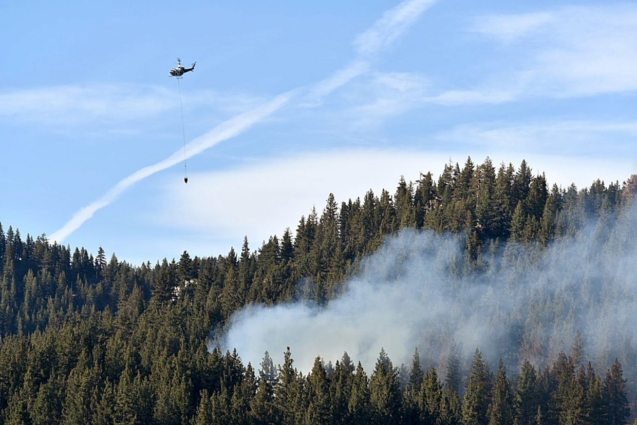 Incline Village resident Brian Cook was in the area of the fire near Spooner Lake Tuesday and captured several images.