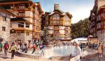 Under the proposed Squaw Valley village redevelopment plan, a central plaza with an ice rink would be created.
