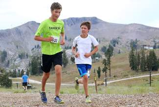 Max Roske, left, and Jacob Gramanz of Tahoe City.