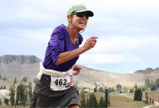 Longtime Squaw Mountain Run participant Barbara Futran, 75, of Olympic Valley.