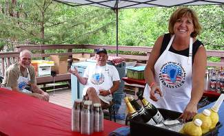 Laughter and smiles were the theme of Saturday's Red, White and Tahoe Blue Veteran's Pancake Breakfast.