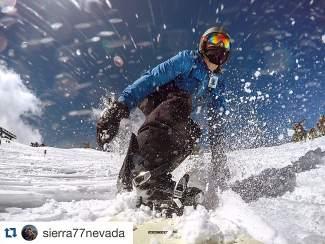 Playing on a powder day. Submitted using #TahoeSnaps on Instagram.