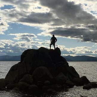 King of the world. Submitted using #TahoeSnaps on Instagram.