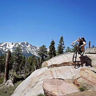Looks like riding season has arrived in Tahoe. Mount Tallac view on the old Valley View Trail. Submitted using #TahoeSnaps on Instagram.