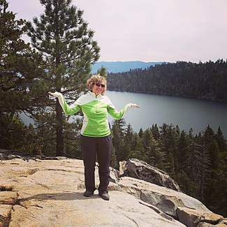 Short hike to White Cloud Falls above Cascade Lake. Submitted using #TahoeSnaps on Instagram.