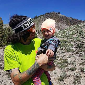Me & Z about to make our trek up the ridge! Submitted using #TahoeSnaps on Instagram.