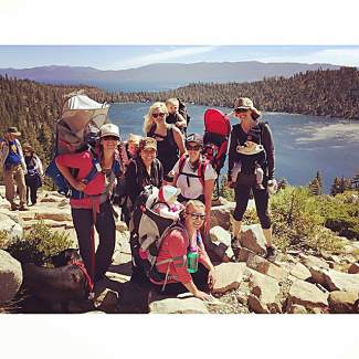Had a great time hiking with these mommas up to Cascade falls. Submitted using #TahoeSnaps on Instagram.