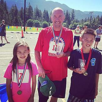 The Patrick family cleaning up at the #firecrackertrek2016 this morning! Submitted using #TahoeSnaps on Instagram.