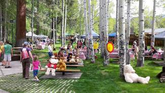 Aspen Grove was packed with families and friends for the annual picnic.