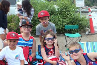 these kids had a blast at the parade Saturday in Truckee, right before the rain came.