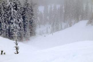 Skiers and snowboarders enjoyed a powder day Friday morning at Sugar Bowl Resort at Donner Summit, where a foot of snow was recorded at high elevations.