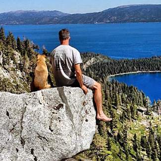 Throwin' it back to a simpler time to when it was just a boy and his dog. Submitted using #TahoeSnaps on Instagram.