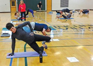 Participants in the Incline Village Recreation Center's Winter Sports Conditioning Class work out in preparation for the upcoming ski season.