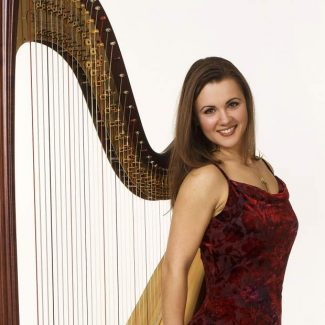Marina Roznitovsky Oster will be the featured harpist at the concerts.