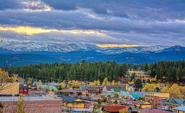 Beauty & Beyond: The town of Truckee shines amid the Sierra after an early December dusting of snow. Photo: Sam Okamoto