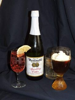 Martinelli's Sparkling Cider comes in a variety of flavors. Look for the pear and apple — delicious.