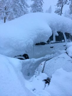 If the amount of snow on my car at 4 p.m. Jan. 10 in Truckee is any proof, this storm system is pretty darn epic.