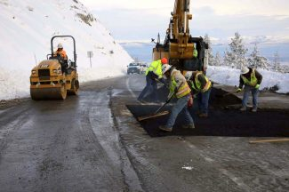 Kingsbury Grade reopened Friday evening following repairs to an eroding drainage pipe underneath the roadway.