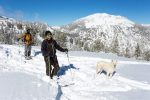 Doug Fagel and his dog Huxlie enjoy the Mt. Rose backcountry.