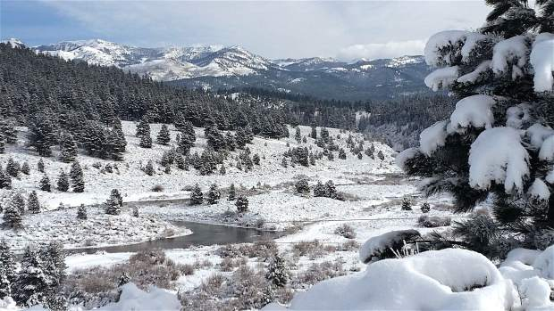 Wintry Wonder: A snowy look at the Prosser Lake area, facing Mt. Rose, on Christmas Day.