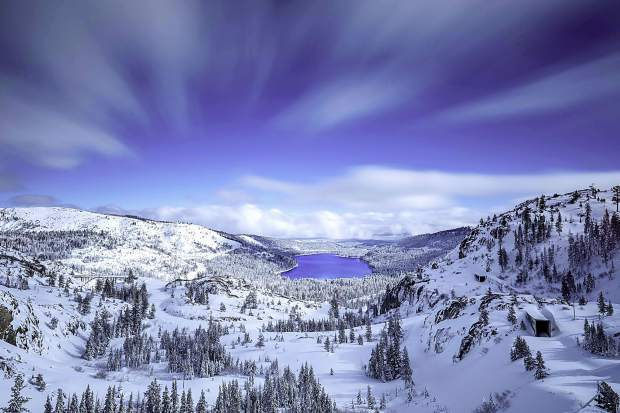 Simply Amazing: Donner Lake is seen from Donner Summit the morning of Jan. 6, after storms last week dumped feet of snow on the region. Photo: Chris Turner / Rimfire Photography
