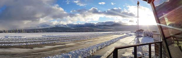 Riveting Runway: Snow and sun combine to shine at Truckee Tahoe Airport the morning of Jan. 5. Photo: Lauren Tapia