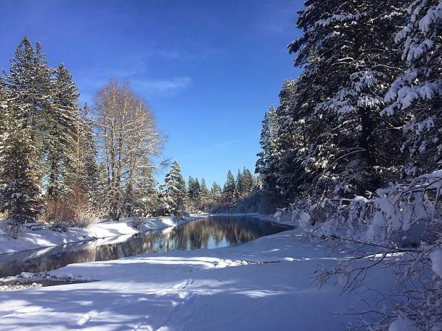 Peace And Quiet: A late December look at the beautiful Truckee River in Tahoe City. Photo: Kristi Starn