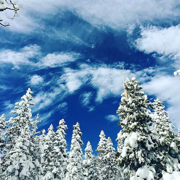 The Air Up There: Bluebird skies are seen above Lake Tahoe on Feb. 7 Photo: Dan Light