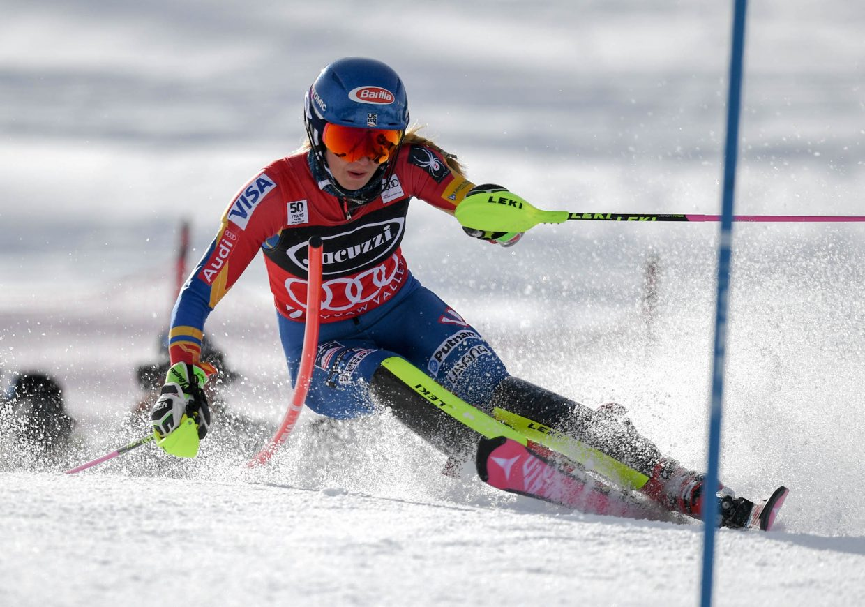 Mikaela Shiffrin outskied her rivals by more than a second Saturday to win her 31st career World Cup race.