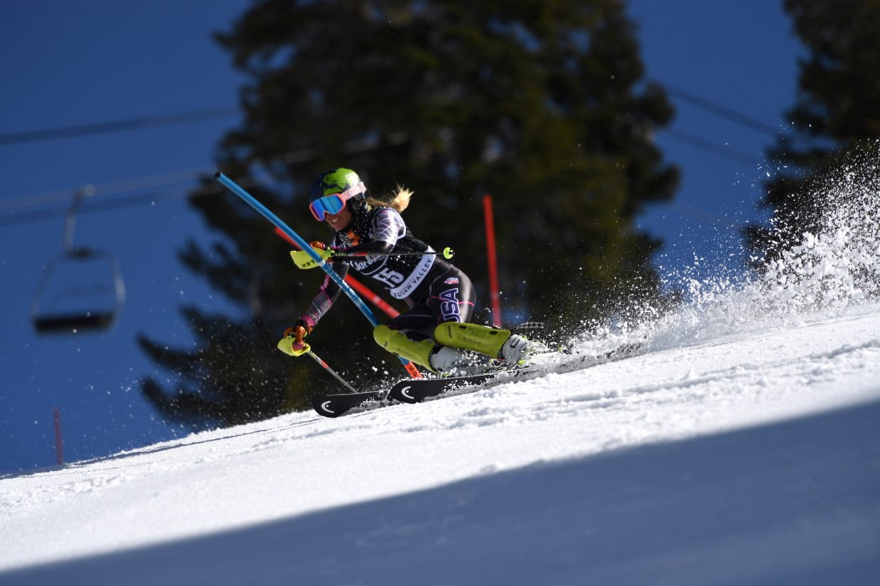 Alix Wilkinson (Park City Ski Team) was a forerunner on Saturday.